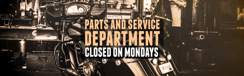 Parts and Service Closed