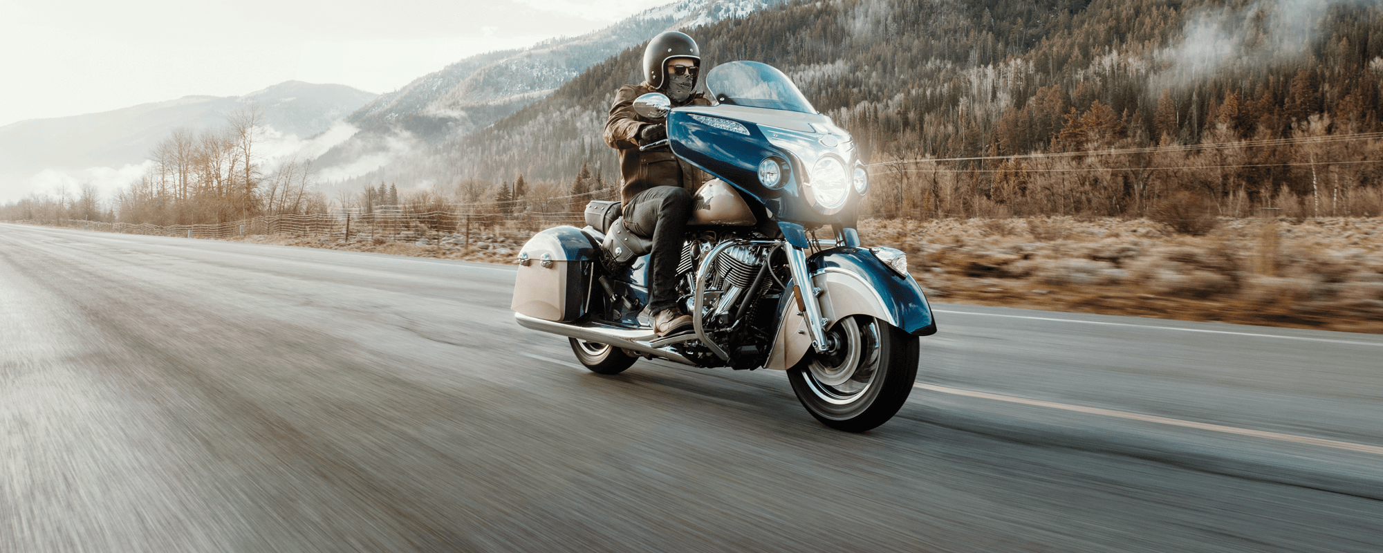 man riding 2019 indian chieftain classic