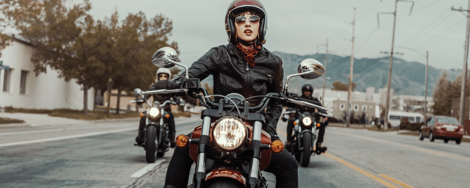 woman riding indian scout sixty