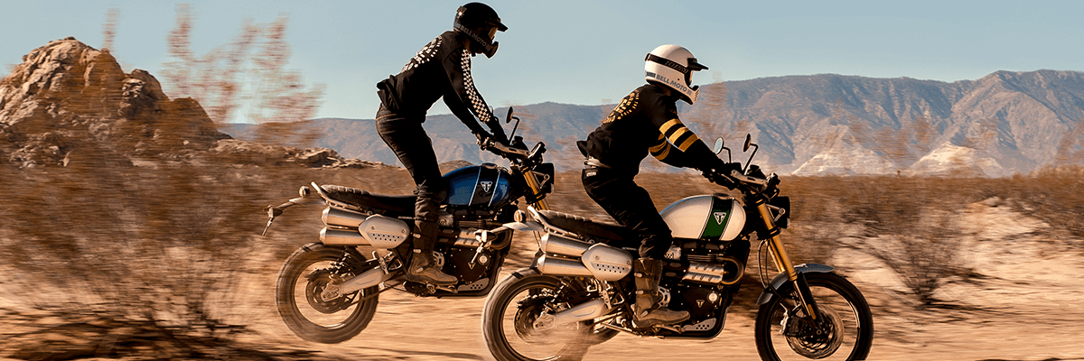 riding new triumph 1200 scramblers