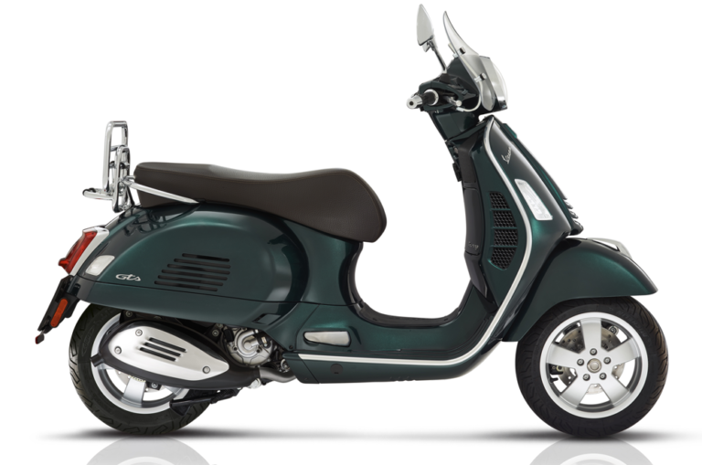 MY20 Vespa GTS 300 HPE Touring side view stock image