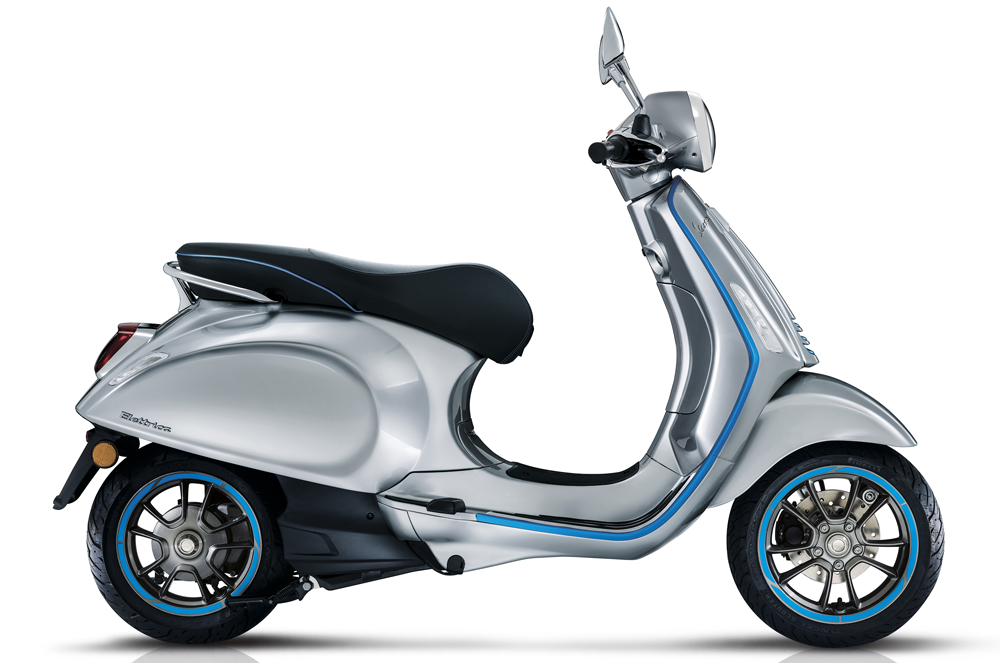 MY20 Vespa Elettrica side view