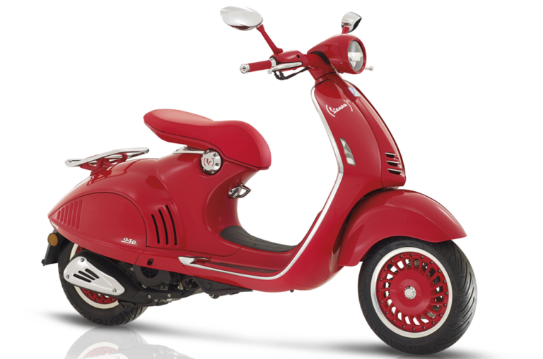 Vespa 946 Side Stock Image