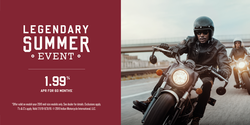 indian motorcycle legendary summer midsize promotion