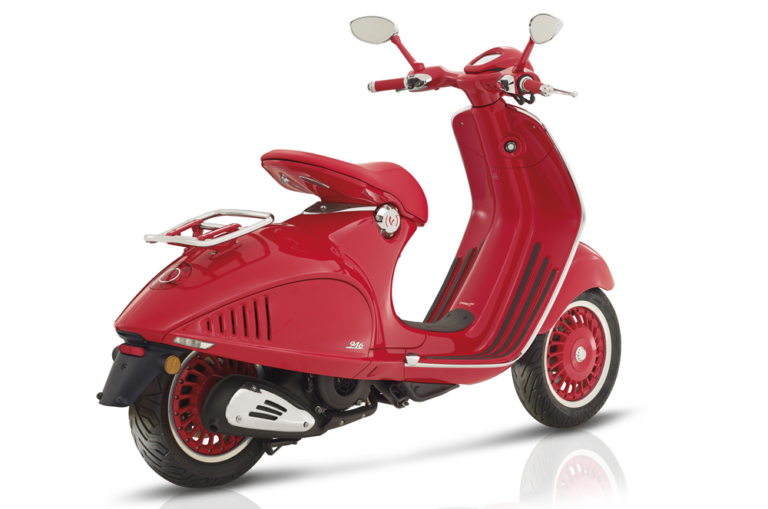 Vespa 946 back stock image