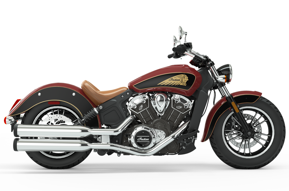indian motorcycle in indian motorcycle red over thunder black