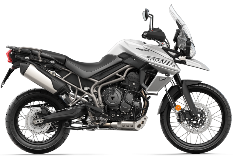 Tiger 800 XCA Crystal White Stock Photo